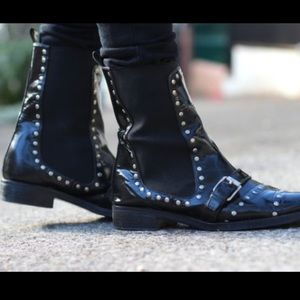 Opening Ceremony black and silver studded boots